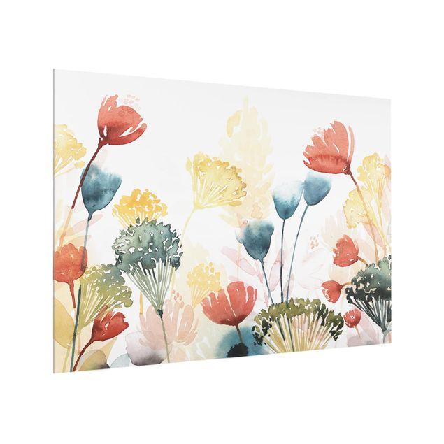Glas Spritzschutz - Wildblumen im Sommer II - Querformat - 4:3