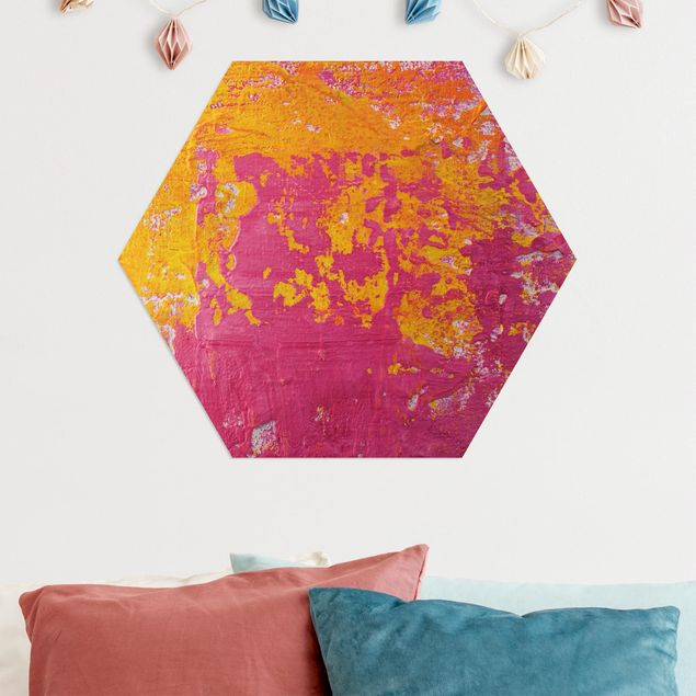 Hexagon Bild Alu-Dibond - The Loudest Cheer