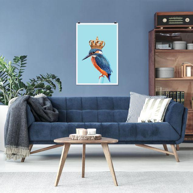 Poster - Jonas Loose - Eisvogel mit Krone - Hochformat 3:2
