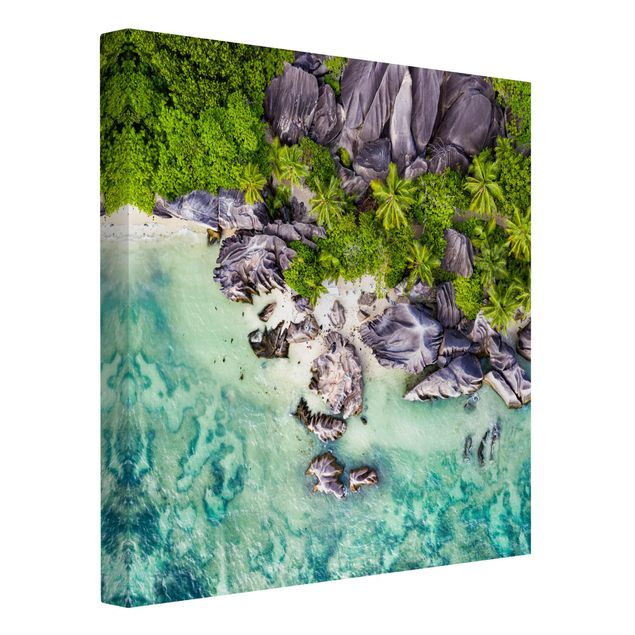 Leinwandbild - Versteckter Strand - Quadrat 1:1