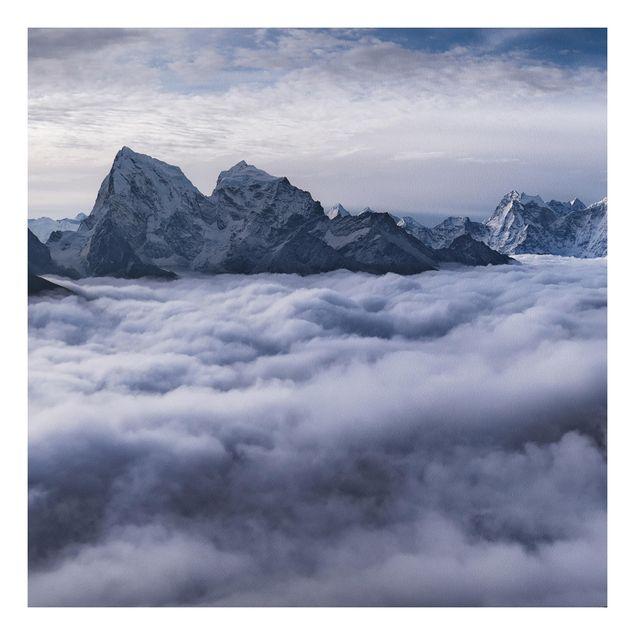 Forex Fine Art Print - Wolkenmeer im Himalaya - Quadrat 1:1