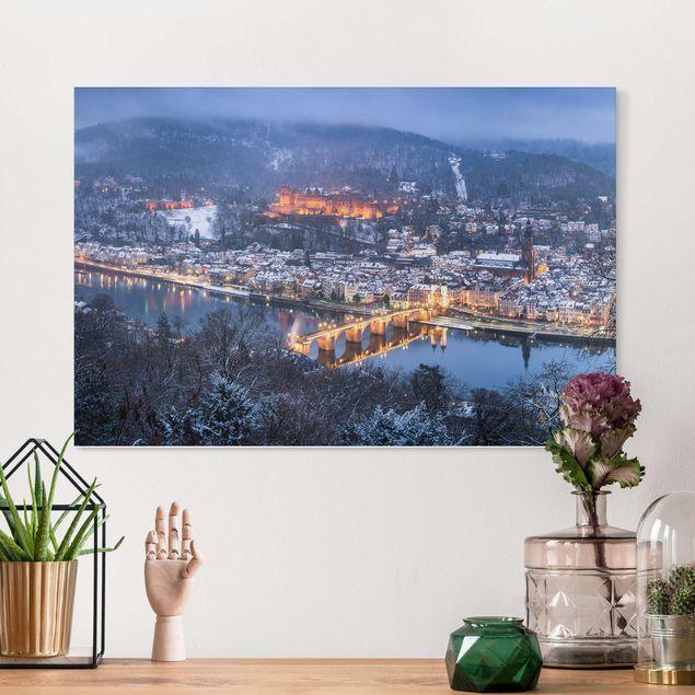 Leinwandbild - Winterliches Heidelberg - Querformat 3:2