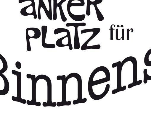 Wandtattoo Sprüche - Wandworte No.UL903 Ankerplatz