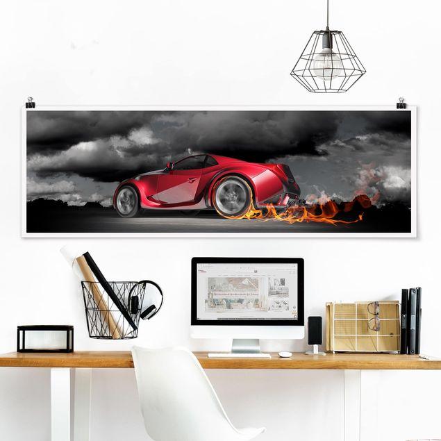 Poster - Flammende Leidenschaft - Panorama Querformat