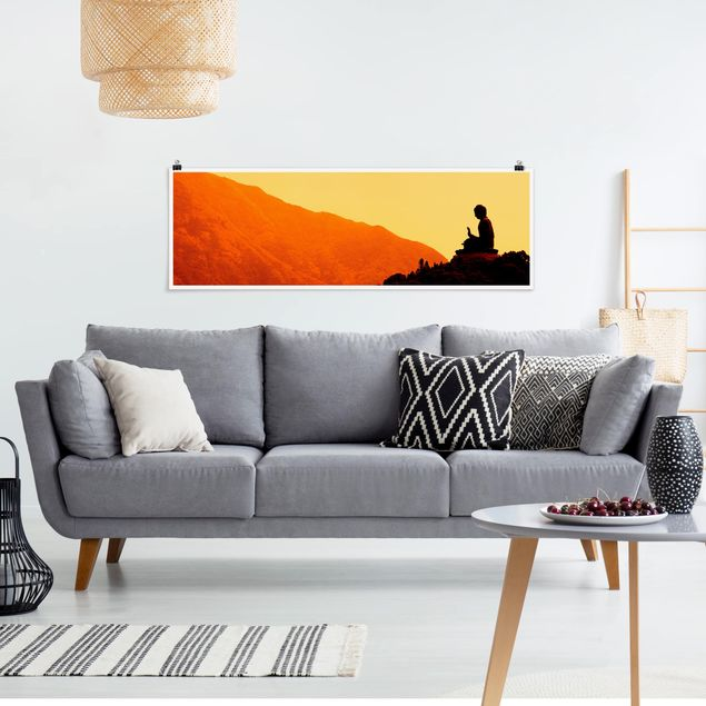 Poster - Resting Buddha - Panorama Querformat