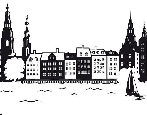 Wandtattoo Skyline No.JS1 Kopenhagen Skyline