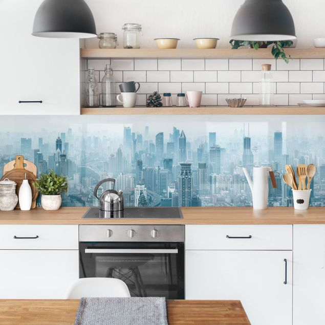 Küchenrückwand - Kühles Shanghai