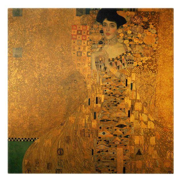 Leinwandbild Gold - Gustav Klimt - Adele Bloch-Bauer I - Quadrat 1:1