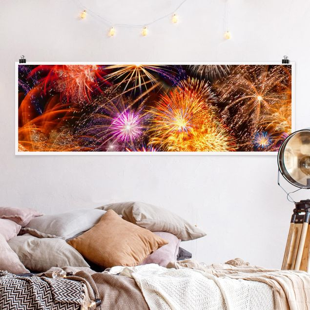 Poster - Silvester Sky - Panorama Querformat