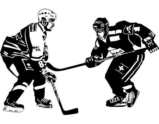 Fensterfolie - Fenstertattoo No.1210 Hockey - Milchglasfolie