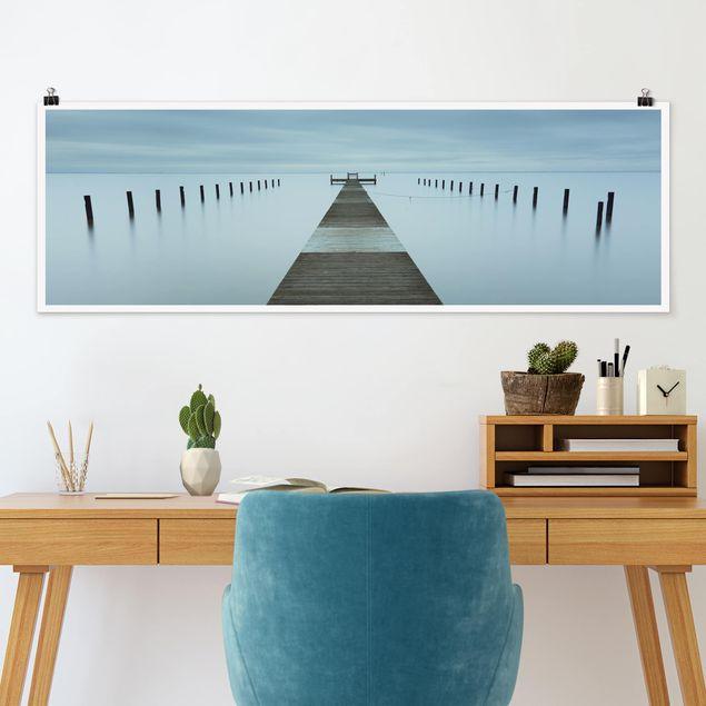 Poster - Pier in Schweden - Panorama Querformat