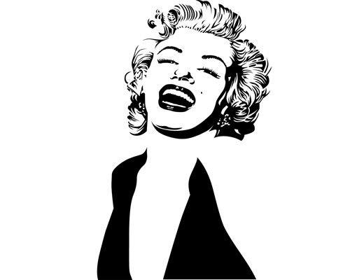 Fensterfolie - Fenstertattoo No.1220 Marilyn - Milchglasfolie