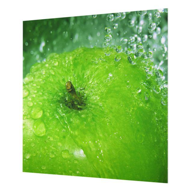 Glas Spritzschutz - Green Apple - Quadrat - 1:1