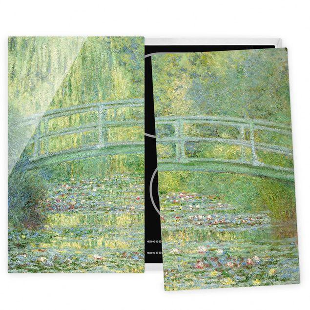 Herdabdeckplatte Glas - Claude Monet - Japanische Brücke - 52x80cm