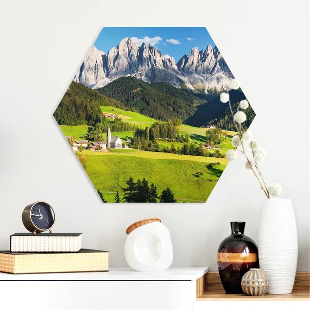 Hexagon Bild Forex - Geislerspitzen in Südtirol
