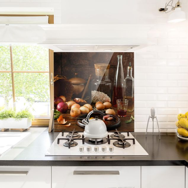 Glas Spritzschutz - Düfte beim Kochen - Quadrat - 1:1