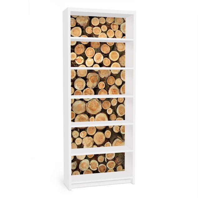 Möbelfolie für IKEA Billy Regal - Klebefolie No.YK18 Baumstämme