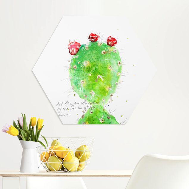 Hexagon Bild Forex - Kaktus mit Bibellvers IV