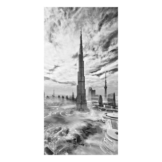 Forex Fine Art Print - Dubai Super Skyline - Hochformat 2:1