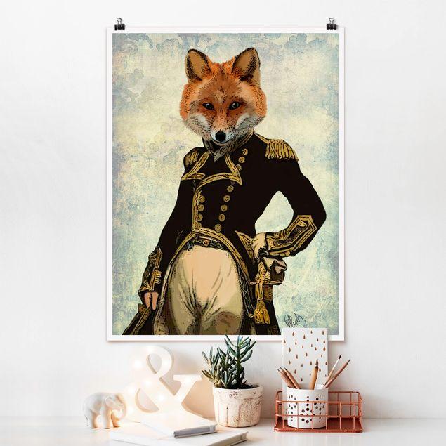 Poster - Tierportrait - Fuchsadmiral - Hochformat 3:4