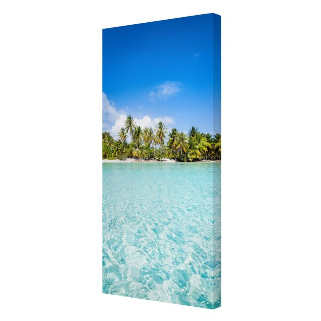 Leinwandbild - Crystal Clear Water - Hochformat 1:2