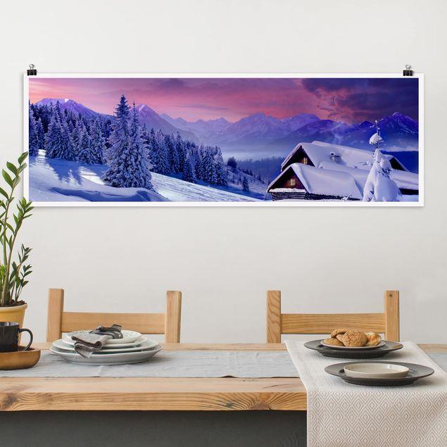 Poster - Weihnachtstraumlandschaft - Panorama Querformat