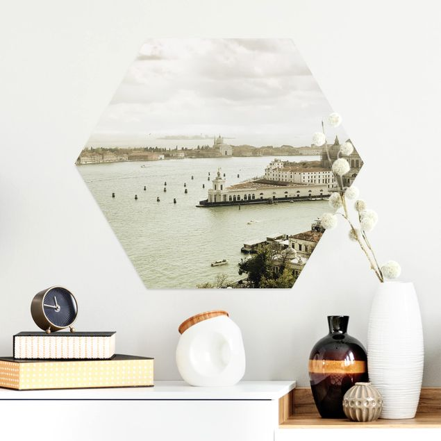 Hexagon Bild Alu-Dibond - Lagune von Venedig