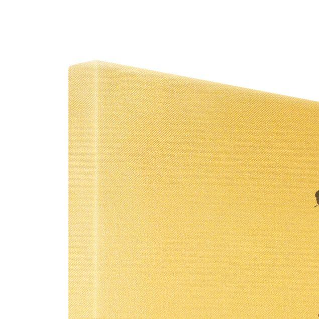 Leinwandbild Gold - Elegance - Blumen - Hochformat 2:3