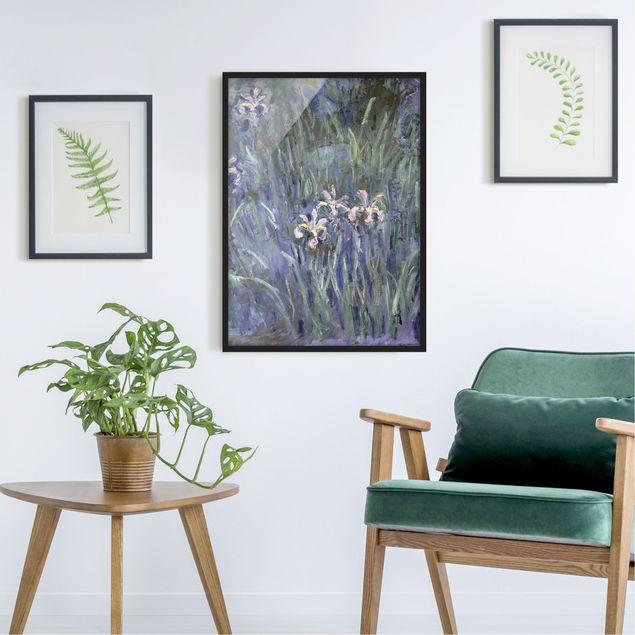 Bild mit Rahmen - Claude Monet - Schwertlilien - Hochformat 3:4