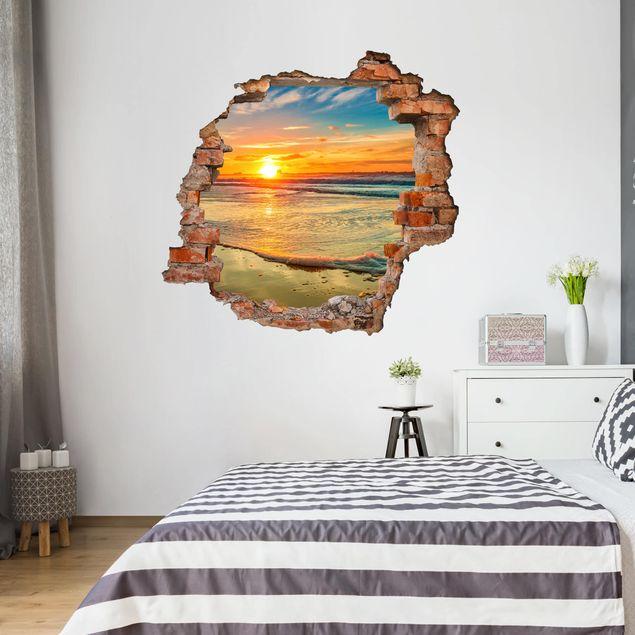 3D Wandtattoo - Goldener Sonnenaufgang