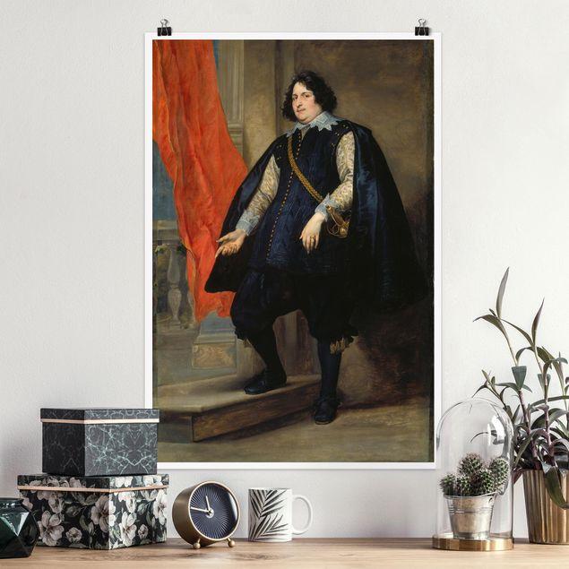 Poster - Anthonis van Dyck - Bildnis Filips de Godines - Hochformat 3:2
