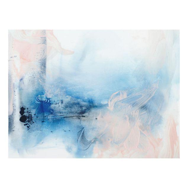Glas Spritzschutz - Indigo & Rouge I - Querformat - 4:3