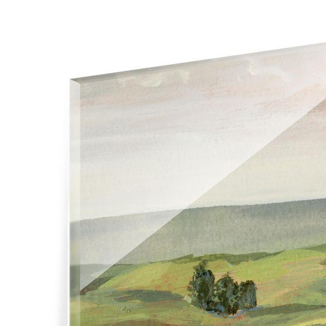 Glas Spritzschutz - Wiese am Morgen II - Quadrat - 1:1