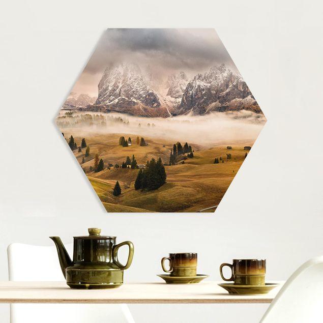 Hexagon Bild Forex - Dolomiten Mythen
