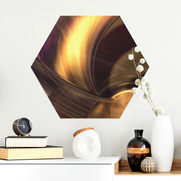 Hexagon Bild Alu-Dibond - Enchanted Fire