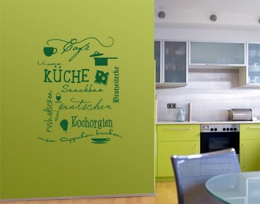 Wandtattoo Sprüche - Wandworte No.UL923 KüchenDoodles Eins