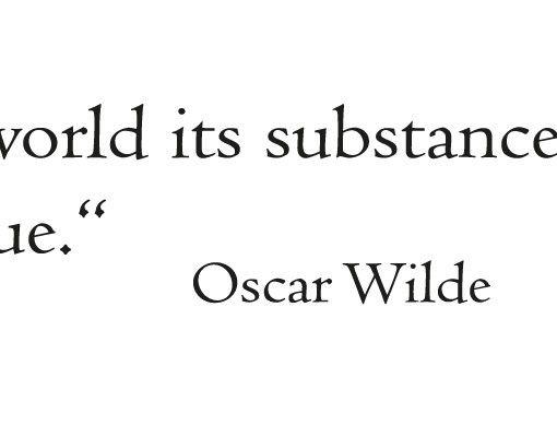 Wandtattoo Zitate - Wandzitate No.FB99 Oscar Wilde I