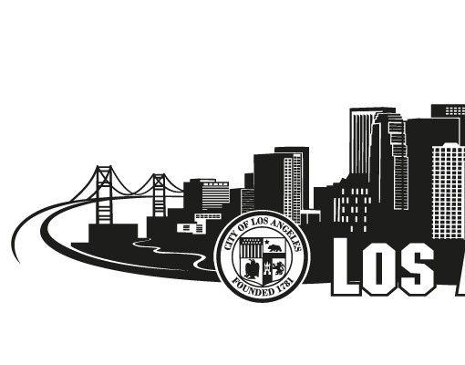 Stadt Los Angeles - Wandtattoo Skyline - No.FB103 Los Angeles Skyline Wandtattoo