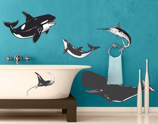 Wandtattoo No.635 Meereswesen