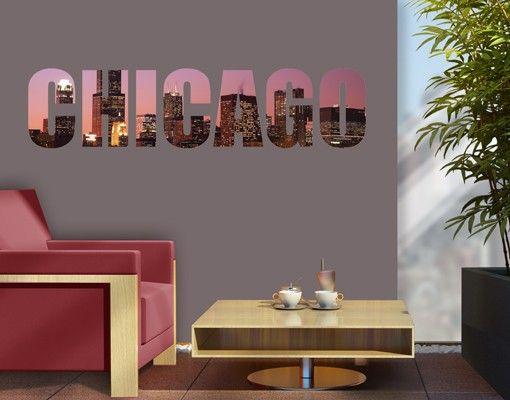 Wandtattoo Sprüche - Wandworte No.JS46 Chicago Skyline