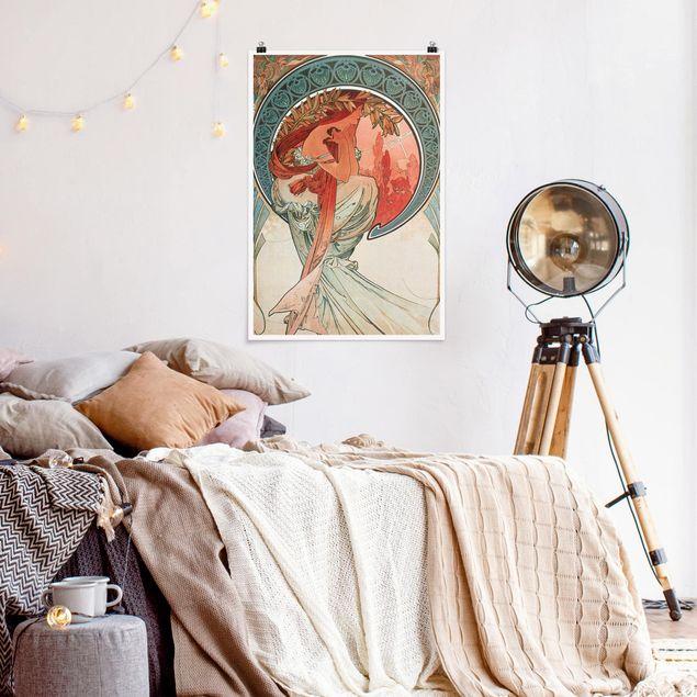 Poster - Alfons Mucha - Vier Künste - Die Poesie - Hochformat 3:2