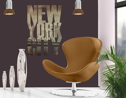 Wandtattoo Sprüche - Wandworte No.JS52 New York City