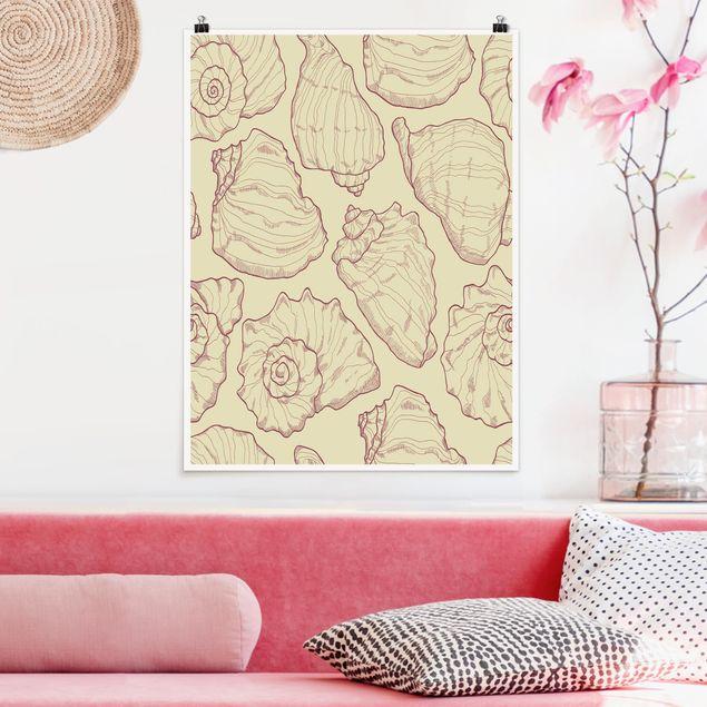 Poster - Mollusken Design - Hochformat 3:4
