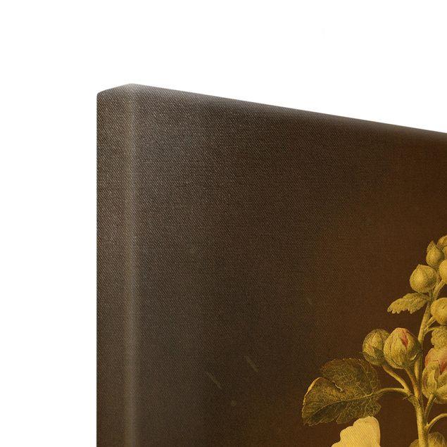 Leinwandbild Gold - Barbara Regina Dietzsch - Stockrose - Hochformat 3:4