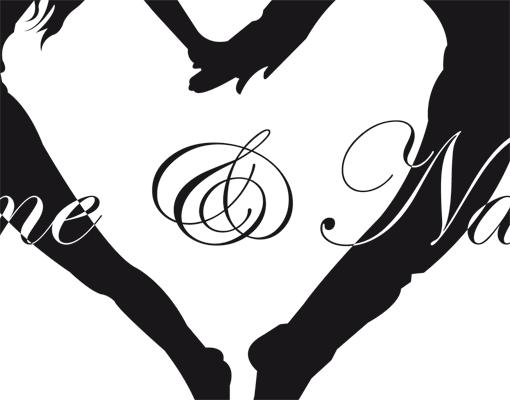 Wandtattoo Sprüche - Wandtattoo Namen No.PP1 Wunschtext Human Heart