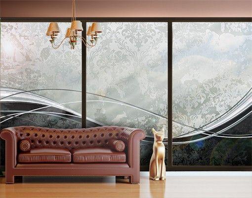 Fensterfolie - XXL Fensterbild Swinging Baroque - Fenster Sichtschutz