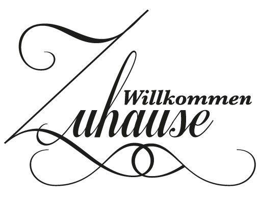 Wandtattoo Sprüche - Wandworte No.EV44 Willkommen Zuhause