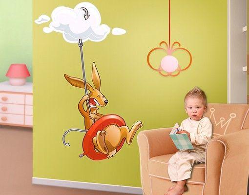 Wandtattoo Kinderzimmer Fliegender Bauernhof Angsthase