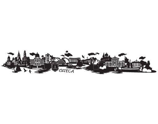 Stadt Odessa Wandtattoo Skyline - No.JR42 Odessa ukrainisch Skyline