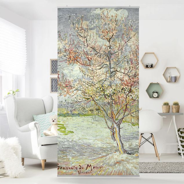 Raumteiler - Vincent van Gogh - Blühende Pfirsichbäume - 250x120cm